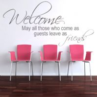 Welcome Guests ~ Wall sticker / decals